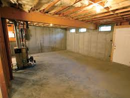 a cleaned out basement in jacksonville shown before remodeling has be