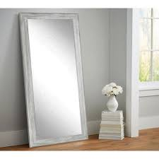 weathered gray full length floor wall mirrorbmts  the home depot
