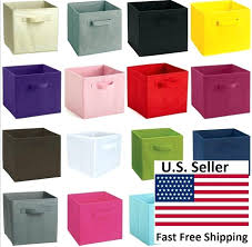 collapsible fabric storage bins collapsible fabric storage bin cube set of 1 2 kids room toy collapsible fabric storage bins