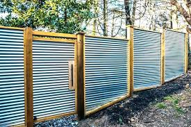 corrugated metal fence cost panels privacy design fences install to build corrugated metal fence cost