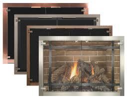 frameless glass fireplace doors. Feature Frameless TotalView Glass Doors Fireplace L