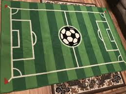 large football pitch rug