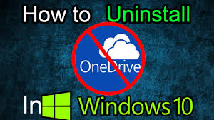 How To Delete Onedrive From Windows 10 Windows 10 How To Remove Onedrive Completely