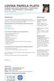 Human Resources Manager Resume Samples Visualcv Resume Samples
