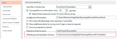 Powerpoint 2013 Template Location Office Templates Location S In Relation To Windows Registry