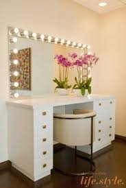 contemporary makeup vanity table. inside chelsea handler\u0027s colorful new office digs: modern but also. crystal perez. 5. makeup vanity table contemporary e