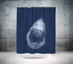 shark shower curtain