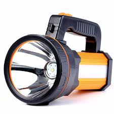 Hand Held Search Light 35w Led Rechargeable Handheld Searchlight 2019 Version High Power Super Bright 9000ma 6000 Lumens Cree Tactical Spotlight Torch Gold