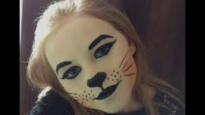 cute cat face paint make up tutorial design easy guide children s face painting tutorial