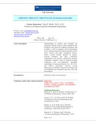 PDF) Air Pollution Control Syllabus Fall 2013 (Prof. Yehia F. Khalil)