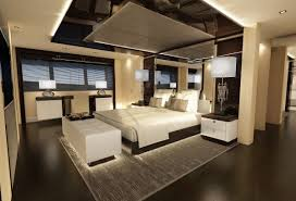 bedroom modern luxury. Bedroom, Modern Luxury Bedroom Designs Black High Gloss Lacquer Finish Oak Wood Bed Frame White