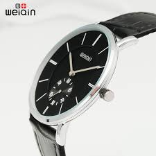 online buy whole slim watches from slim watches weiqin mens watches brand luxury ultra slim quartz watch men 2017 business leather band relogio masculino
