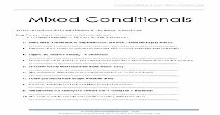 Mixed Conditionals Worksheet | photocopiables
