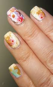 Wendy's Delights: Summer Coral Nail Art Wraps from Charlies Nail Art