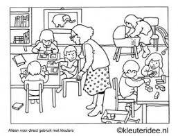 Kleurplaat Ik De Klas Kleuteridee Preschool Coloring In The