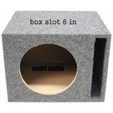BOX SPEAKER 6 INCH SLOT Subwoofer Universal Slot Vented Port Sub Box  Speaker Enclosure