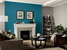 teal colored living room walls
