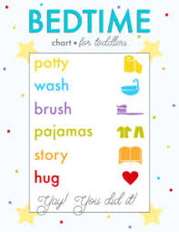 Bedtime Routine Charts Free Printables Live Craft Eat