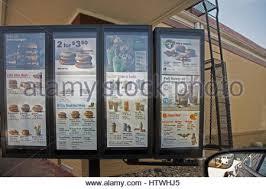 Drive Thru Vending Machine Adorable Menu At A Wendy's Drive Thru Restaurant Stock Photo 48 Alamy
