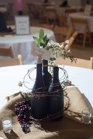 My DIY Wine Bottle Centerpieces : wedding Wine Bottle Centerpiece
