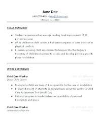 a sample resume sample resumes for job child care resume sample resume format for