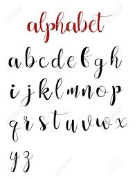 Latin Alphabet Letters On A White Background Calligraphy Font