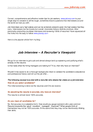 How To Make A Resume For Job Interview A Recruiters Viewpoint On Job Interviews from wwwjobxray 96
