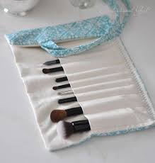 diy makeup brush holder so much prettier than what you can now i just need to learn how to sew