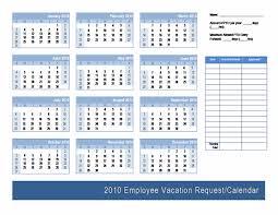 Vacation Calendar Templates Employee Vacation Request Calendar Template Calendars