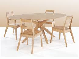 lpd malmo 190cm white oak round dining table and 4 chairs set