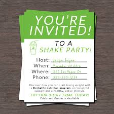 Shake Parties Are A Great Way To Grow Your Herbalife