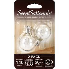 Scentsy Light Bulbs Walmart Scentsationals 20 Watt Replacement Wax Warmer Clear Light