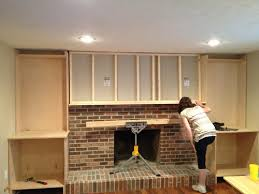 built ins and fireplace makeover