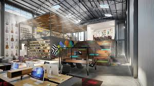 warehouse office design. Interesting Warehouse Warehouse Rendering Inside Office Design M