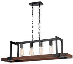 wood pendant lighting. Bronze Iron Wood Island 4 Lights 39\ Pendant Lighting A