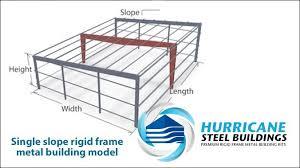 single slope metal building