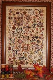 Valdani Color Chart Autumn Quakers Cross Stitch Chart And Valdani Threads Rosewood Manor
