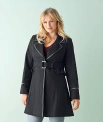 women s plus size winter coats flared