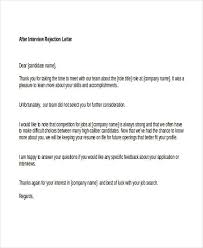 Sample Thank You Rejection Letter After Interview