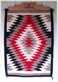 Navajo rug patterns Early Navajo Vintage 1950s Native American Navajo Rug Eye Dazzler Pattern 36x51 Red Black White University Of Colorado Boulder Vintage 1950s Native American Navajo Rug Eye Dazzler Pattern 36x51