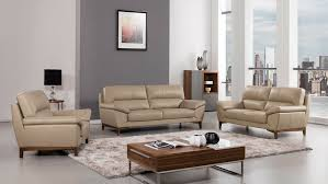details about 3 pc modern tan italian leather sofa loveseat chair living room couch set