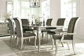 dining room table and chairs sets set furniture glass extendable high italian modern c