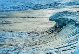 Ocean Wave Background Natural Background A Wave Rolling In To The Beach Perfectly Formed