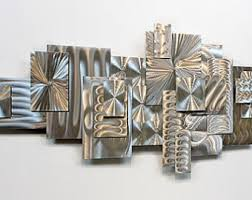 unique all natural silver abstract metal wall sculpture metallic reflective 3d modern art geometric accent time suspended by jon allen on wall sculpture art metal with metal wall sculpture etsy