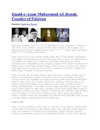 muhammad ali jinnah biography and role quaid e azam muhammad ali jinnah founder of posted in people