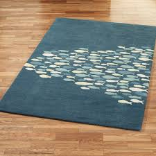 wool area rugs. Schooled Fish Rectangle Rug Wool Area Rugs