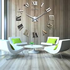 diy large wall clocks giant wall clock inch wall clock silver metal design of giant wall diy large wall clocks