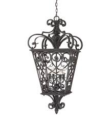 french outdoor lighting. Quoizel - FQ1920MK01 Fort Quinn Marcado Black Outdoor Hanging Lantern French Lighting