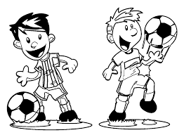 Small Picture Playing Football Coloring Pages Wecoloringpage