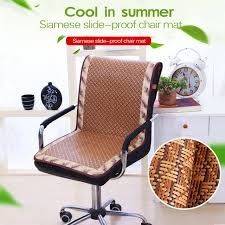 cooling office chair. Rattan Slide-proof Chair Cushion Summer Cooling Cover For Office  Plaid Dustproof Cooling Office Chair